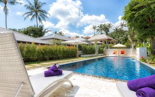Вилла с 2 спальнями и общим бассейном в аренду в районе Бопхут на острове Самуи