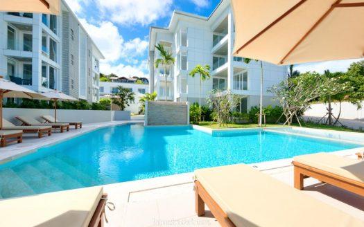 Новые апартаменты с 3 спальнями, бассейном и фитнес-клубомрядом с пляжам Чонг Мон