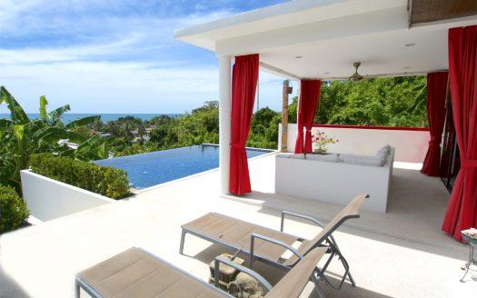 Вилла с 2 спальнями и бассейном-инфинити в аренду рядом с пляжем Ламай острова Самуи