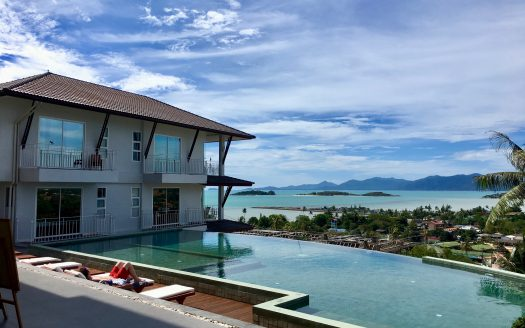 SPAcious apartment with sea views in Chong Mon area for rent on Koh Samui