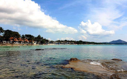 Вид на Чавенг с южной части пляжа