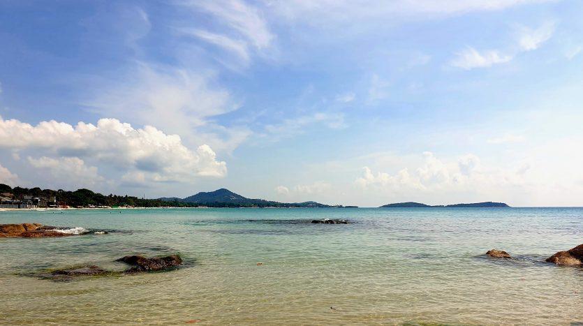 Вид на пляж Чавенг с южной части пляжа