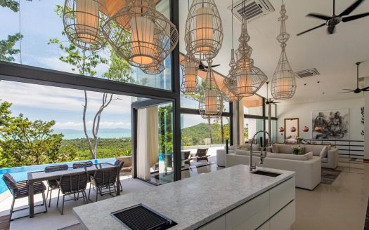 Upscale villa with a spectacular view of Koh Phangan island buy in Samui