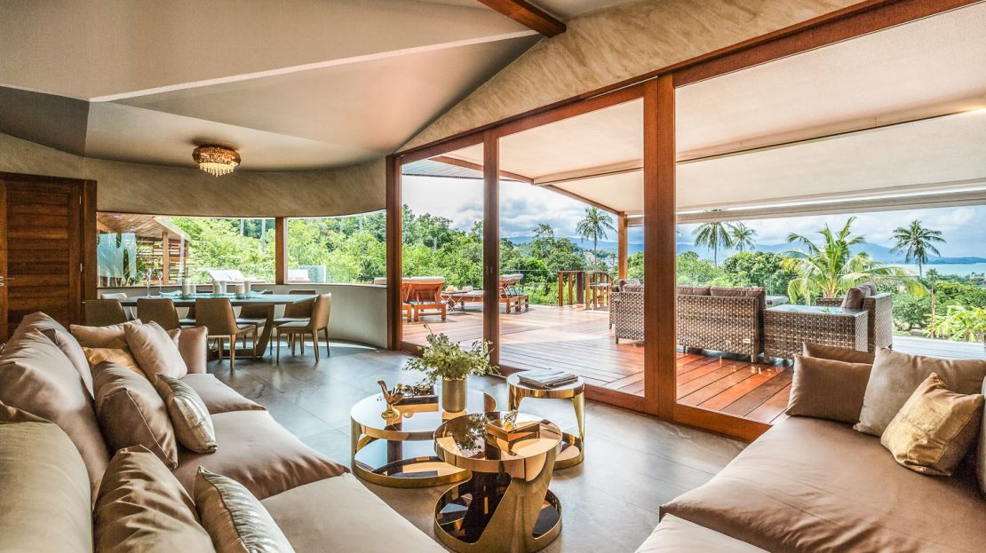 Villa with 4 bedrooms with sea views for rent in Koh Samui