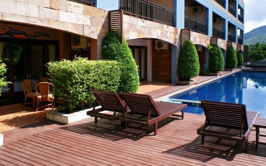 Apartment with a bedroom in the center of Bophut district for rent on Samui