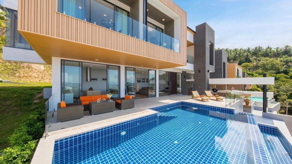 Люкс вилла с 3 спальнями в районе Чавенг Ной в аренду на Самуи