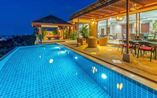 Вилла с 3 спальнями и потрясающим видом на Сиамский залив в аренду на Самуи
