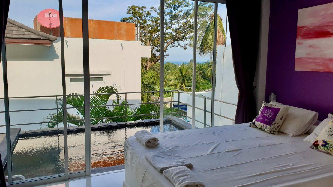 Дом с 3 спальнями и видом на море в районе Чавенг в аренду на Самуи