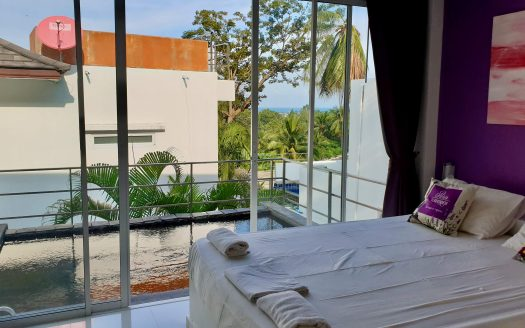 3 bedroom house with sea view in Chaweng area for rent in Samui