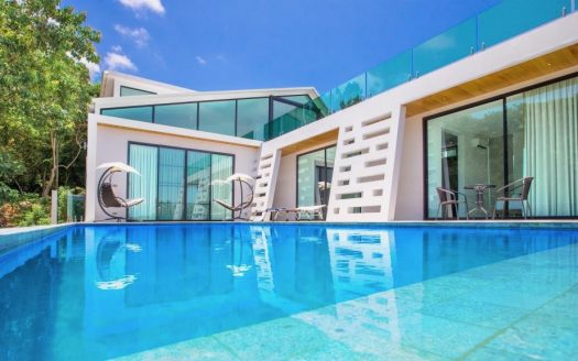 Вилла с 4 спальнями с видом на море в аренду на Самуи