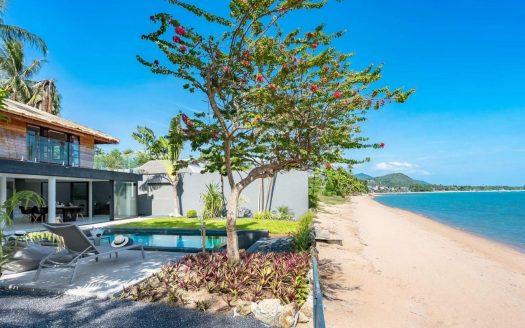Вилла с 4 спальнями на берегу пляжа Бопхут в аренду на Самуи