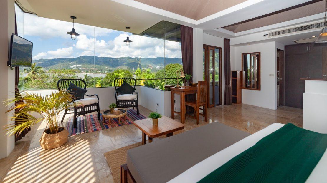 Апартаменты с 1 спальней и прекрасным видом в районе Чавенг