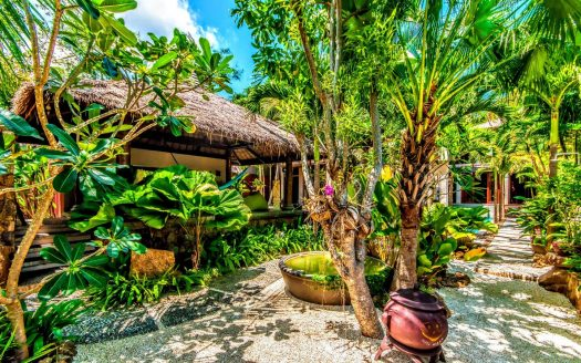 tropical garden villa for rent in Samui