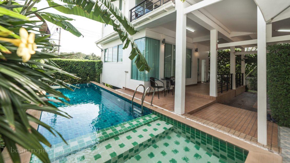 Двухэтажная вилла с 2 спальнями недалеко от пляжа Чонг Мон в аренду на Самуи