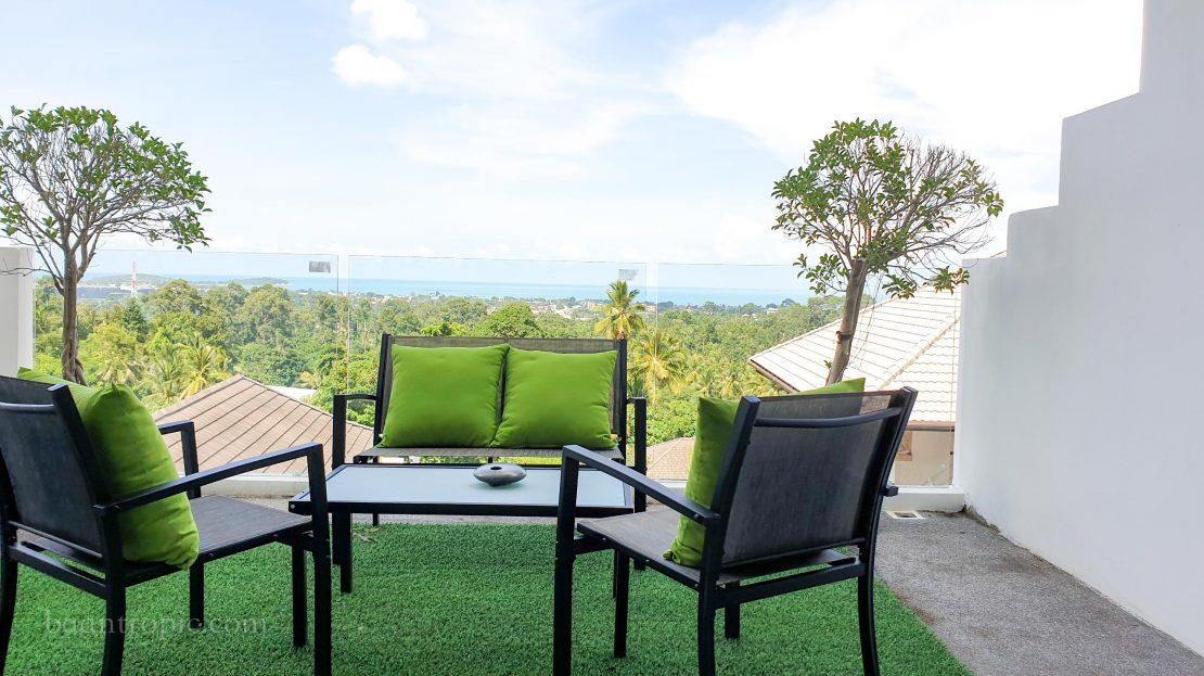 Апартаменты с 4 спальнями и видом на пляж Чавенг в аренду на Самуи