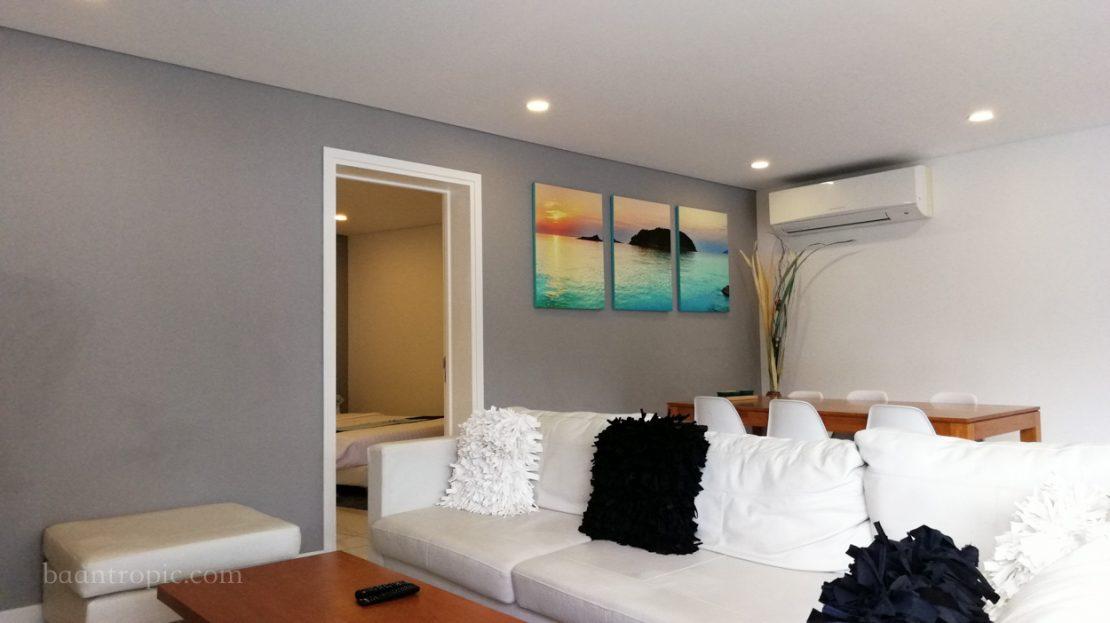 Апартаменты 2 спальни рядом с пляжем Чонг Мон в аренду на Самуи