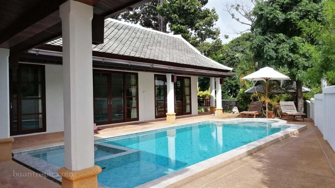 Вилла 3 спальнями в районе Банграк в аренду на Самуи