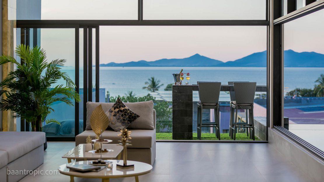Вилла с видом на море на острове Самуи