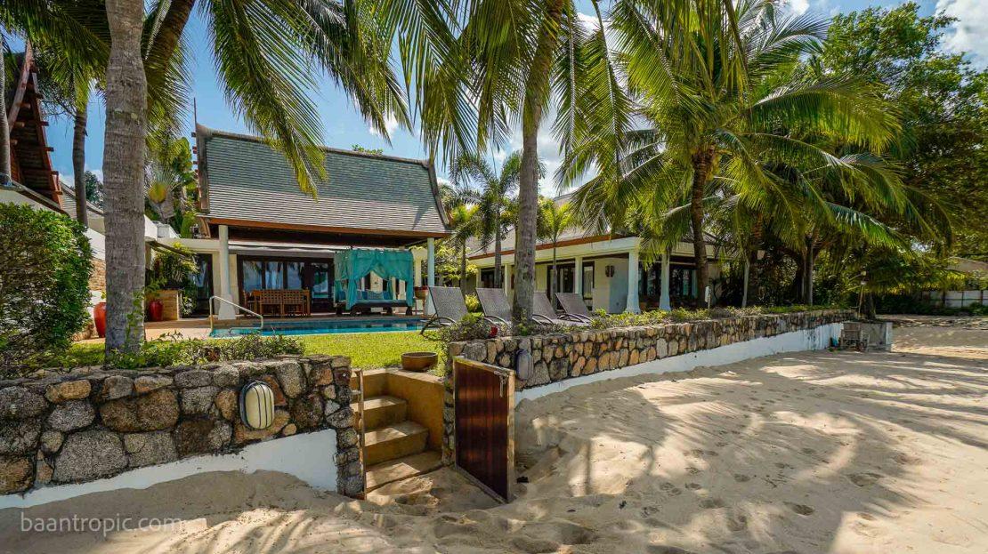 Вилла с 4 спальнями на берегу пляжа Маенам в аренду на Самуи