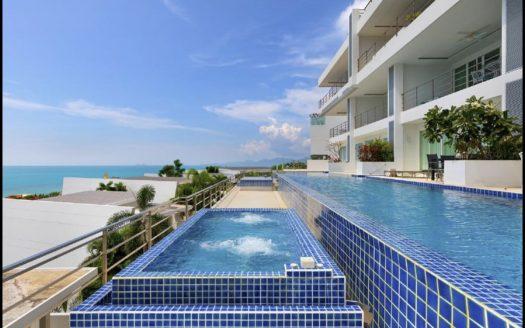 Апартаменты с 2 спальнями и видом на море в районе Банграк в аренду на Самуи